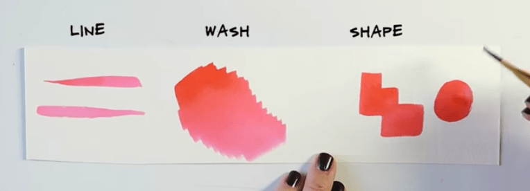 Watercolor brushes: angled watercolor brushes